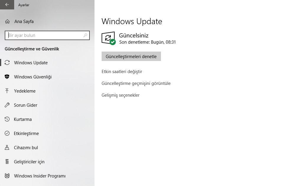 Windows Update Nedir?
