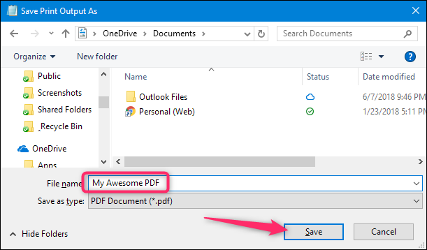 Windows'da PDF Dosyası Oluşturmak