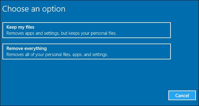 """""""Bu Bilgisayarı Sıfırla"""" ile Windows'u Sıfırlamak"""