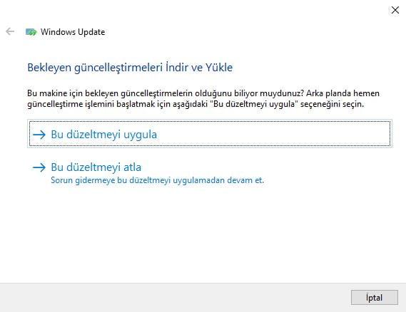 Windows Update Sorun Gidericisi ile Sorunları Çözebilirsiniz