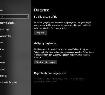 Surface Pro, Go, Laptop veya Book Nasıl Sıfırlanır?