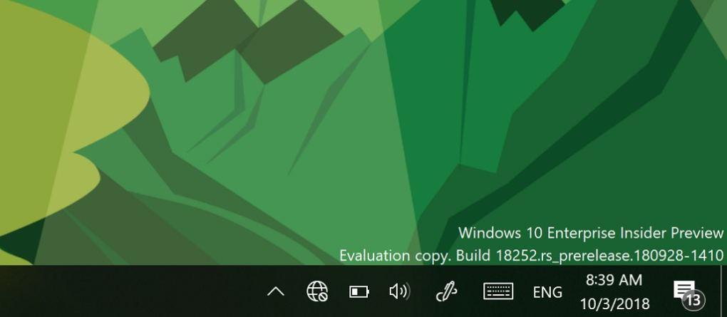 Windows 10 1903 Yapı 18252 (19H1) Yeni Özelliklerle Birlikte Yayınlandı
