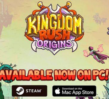 Kingdom Rush Origins Steam için Yayınlandı
