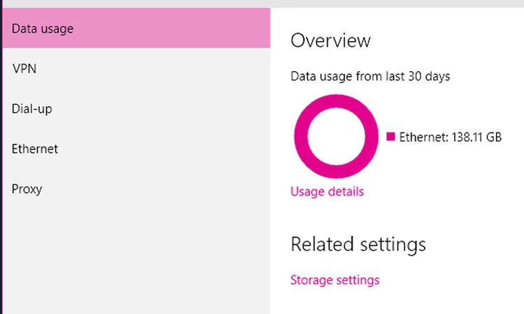 Windows 10'da Veri Kullanımını Sıfırlama veya Silme