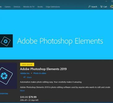 Adobe Photoshop Elements 2019, Microsoft Store