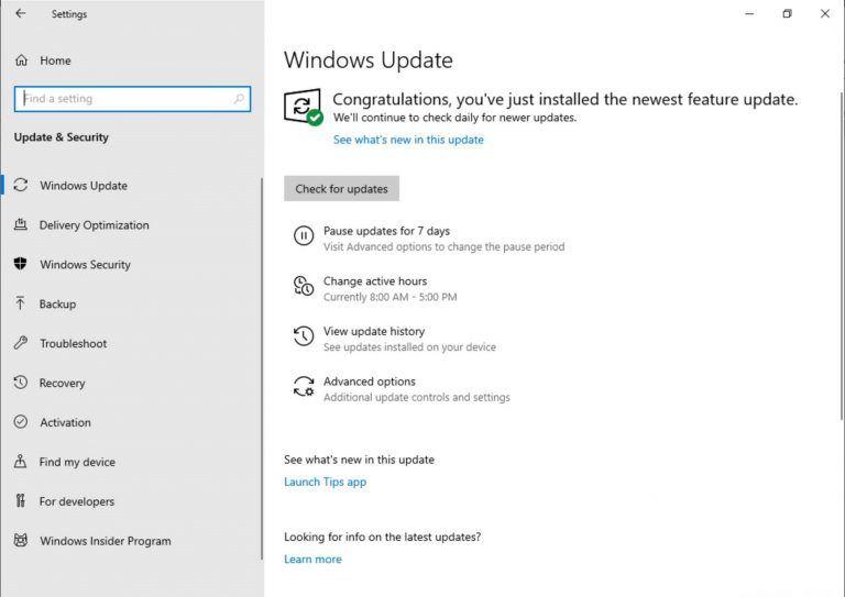 Windows 10 Güncelleme Duraklatma