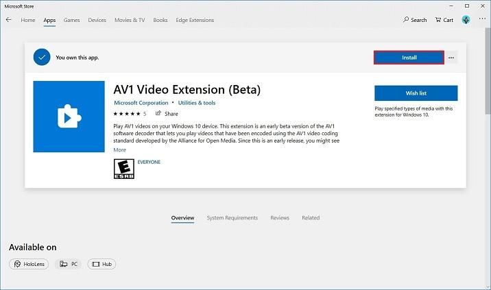 Windows 10'a AV1 Codec Nasıl Eklenir?