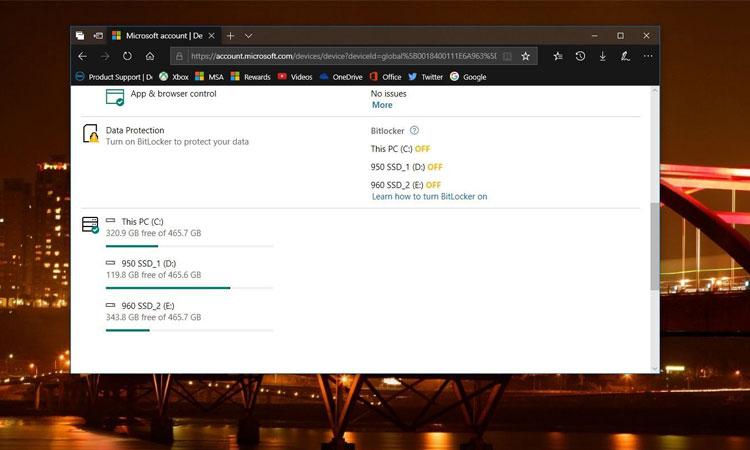 Windows 10 Sabit Disk Alanını Microsoft Hesabınızdan Kontrol Edebilirsiniz