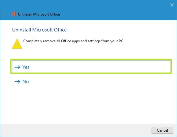 Steps to Uninstall Office 365 or Office 2019/2016 on Windows