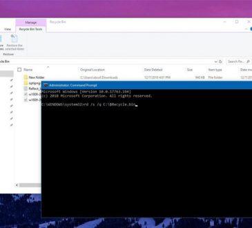 Windows 10'da Geri Dönüşüm Kutusu Problemi
