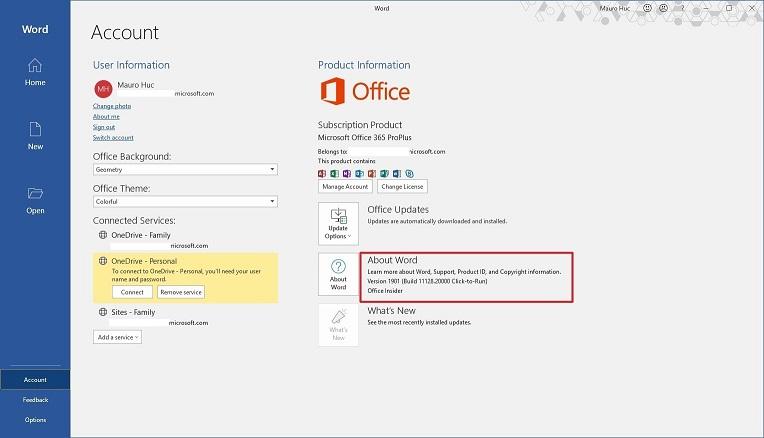 Office Sürümünü Kontrol Etme
