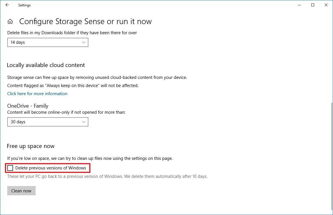 Akıllı Depolama Seçeneğini Kullanarak Windows.old Klasörünü Silebilirsiniz