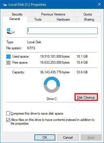 Disk Temizleme Uygulamasını Kullanarak Windows.old Klasörünü Silebilirsiniz