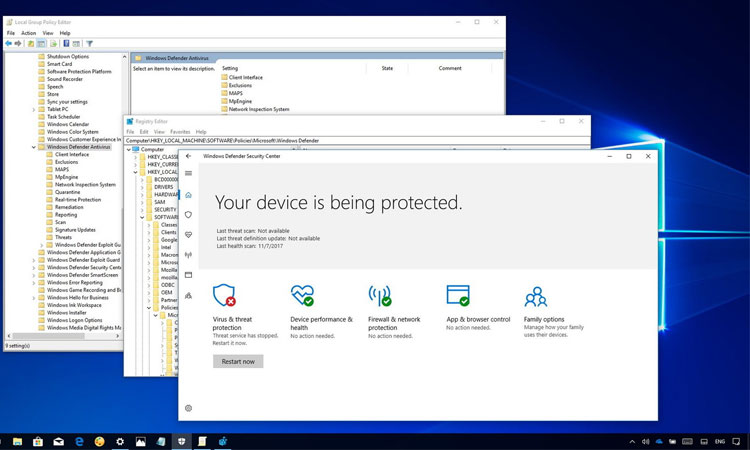 Windows Server 2016'da Windows Defender'ı Kaldırma