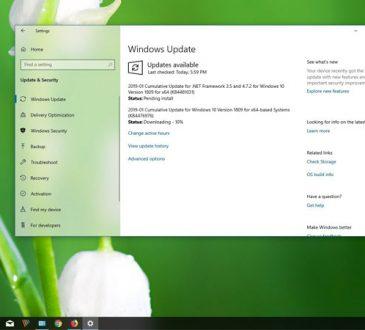 Windows 10 KB4476976 Güncellemesi Yayınlandı (Yapı 17763.292)