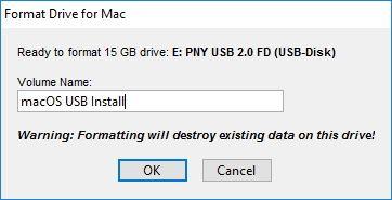 Windows'ta macOS için Yükleme USB'si Oluşturmak