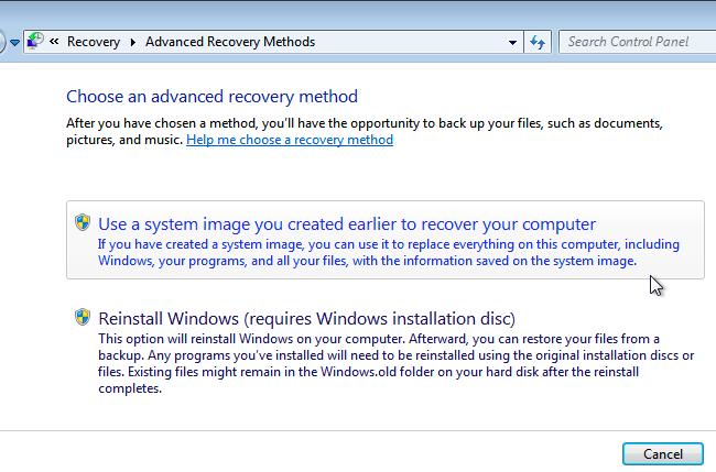 Windows'da Image Yedeklemelerini Geri Yükleme