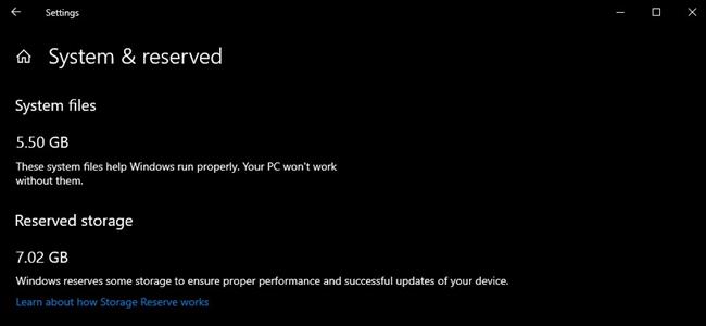 Windows 10 Ayrılmış Alan Özelliği