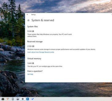 Windows 10 Ayrılmış Depolama Alanı