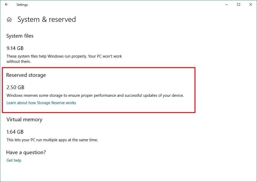 Windows 10'da Ayrılmış Depolama Kullanımı Nasıl Kontrol Edilir?