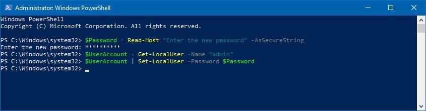 Windows 10'da PowerShell ile Şifre Nasıl Değiştirilir?