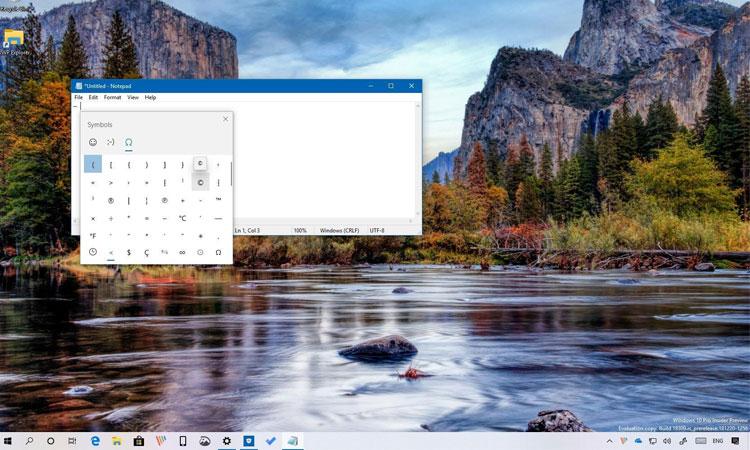 Windows'da Hızlı Bir Şekilde Sembol Eklemek