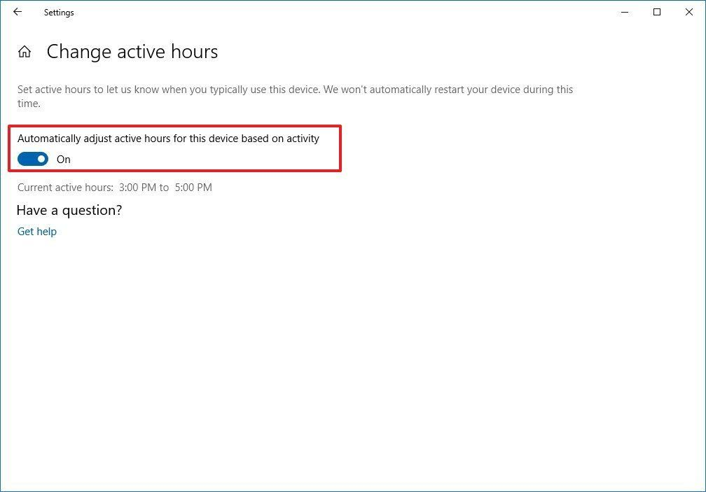 Windows 10 1903 Otomatik Aktif Saatler