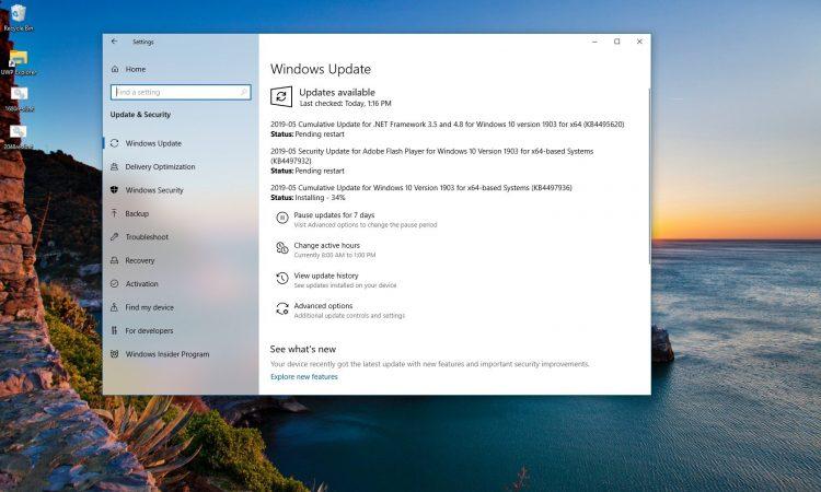 Windows 10 KB4497936 Güncellemesi Yayınlandı (18362.113)