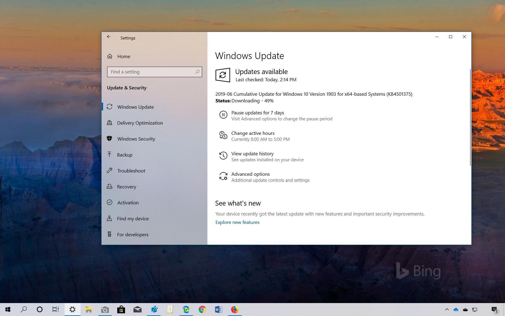 Windows 10 KB4501375 Güncellemesi 1903 Sürümü için Yayınlandı (18362.207)