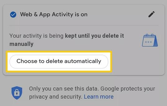 Google Arama ve Diğer Etkinlikleri Otomatik Silmek