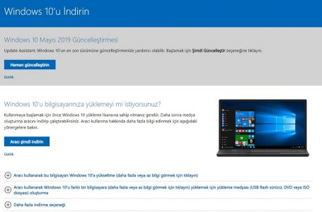Windows 10 1909 ISO Dosyasını İndirebilirsiniz