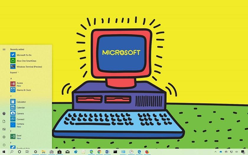 Windows 10 Throwback Teması