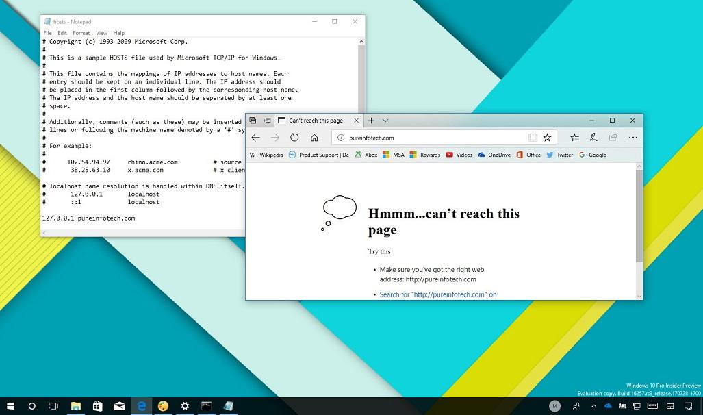 Windows 10 Hosts Dosyası Değiştirme Adımları