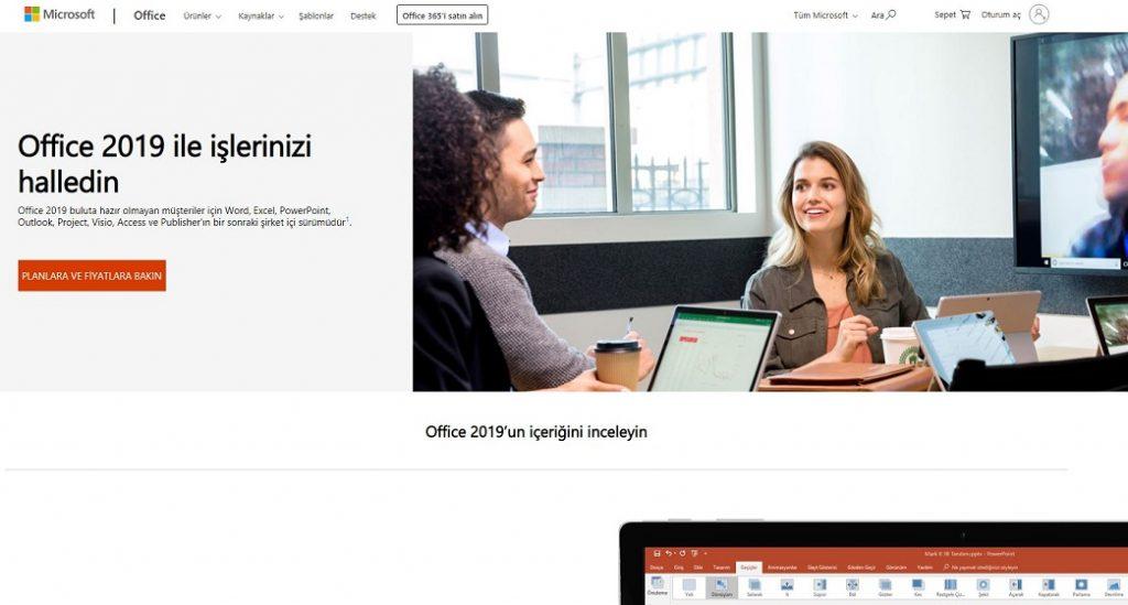 Office 2019 Ürün Sayfası