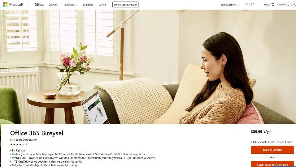 Office 365 Ürün Sayfası