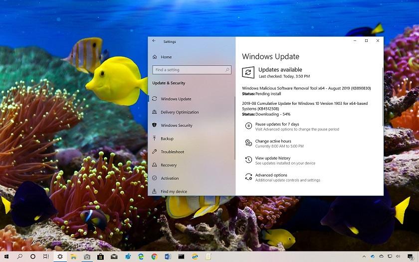 Windows 10 KB4512508 Güncellemesi 1903 Sürümü için Yayınlandı (18362.295)