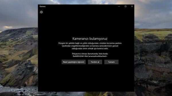 Windows 10 Kamera Sorunu