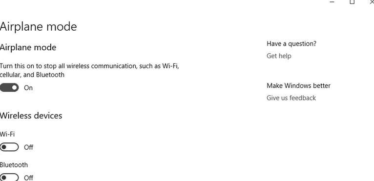 Windows 10 Uçak Modu Kapanmıyor Problemi Çözümü