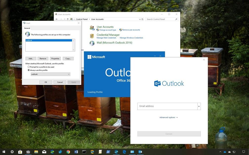 Outlook Profil Silme Adımları