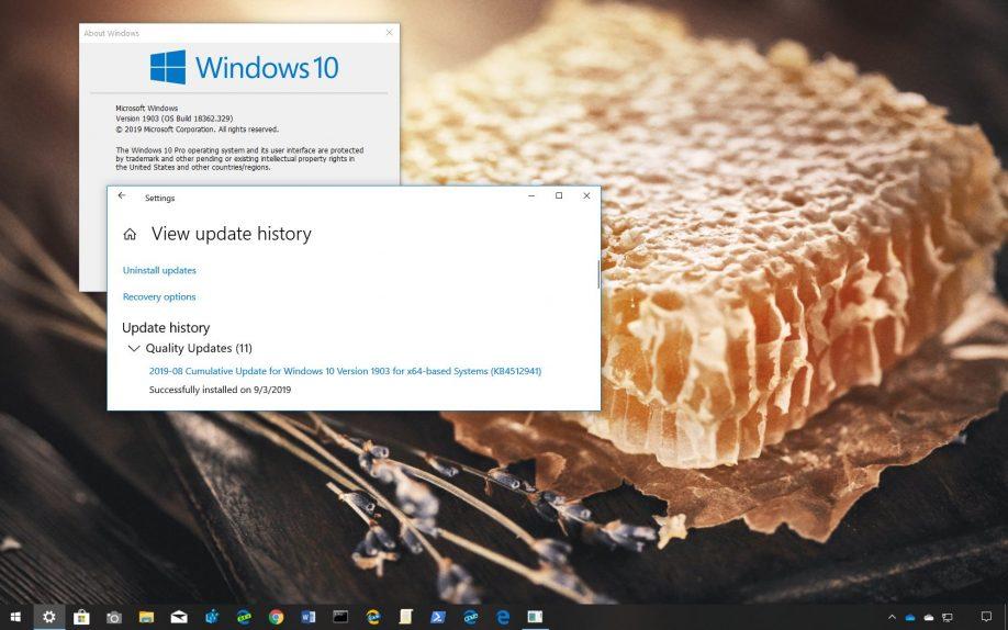 Windows 10 1903 Mayıs Güncellemesi için KB4512941 Yayınlandı