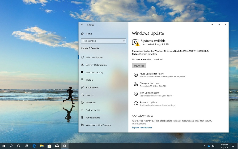 Windows 10 1909 Güncellemesi için 18362.10019 Yayınlandı