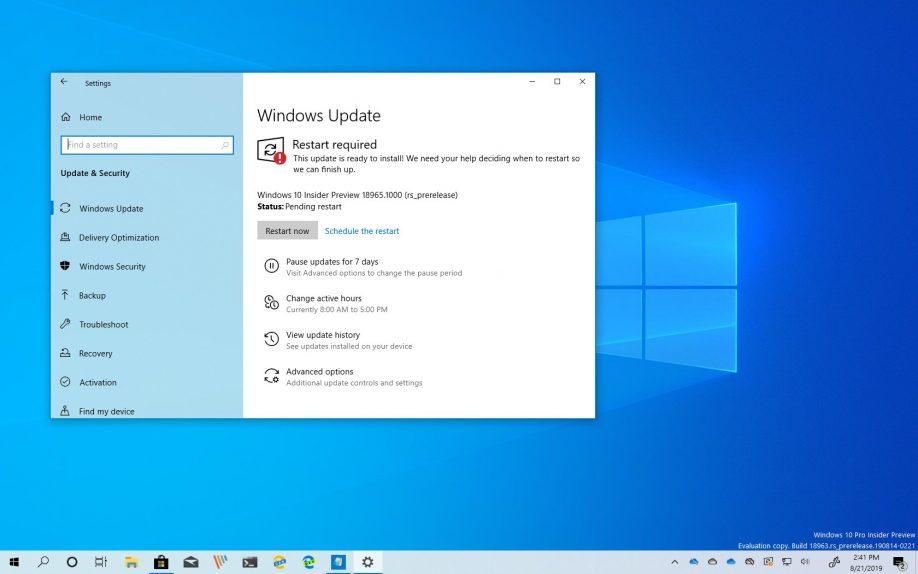 Windows 10 2003 Güncellemesi için 18965 Yayınlandı