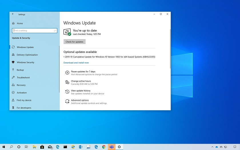 Windows 10 1903 Mayıs Güncellemesi için KB4522355 Yayınlandı