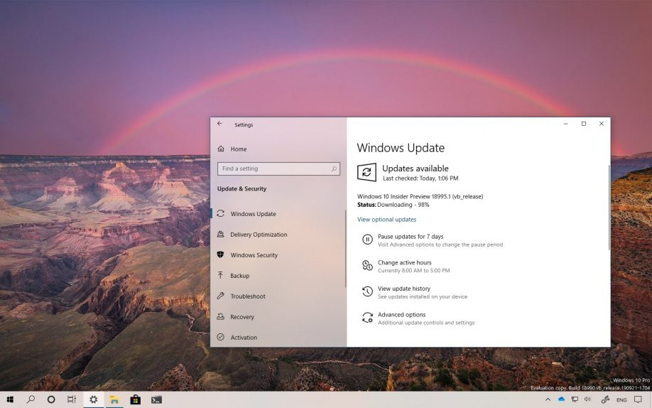 Windows 10 2003 Güncellemesi için 18995 Yayınlandı