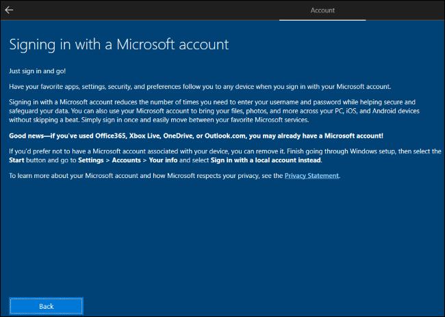 Windows 10 Kurulumu Artık Yerel Hesap Oluşturmayı Engelliyor