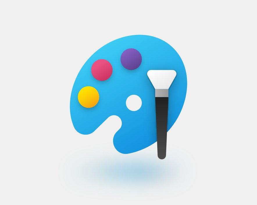Microsoft Paint yeni ikon