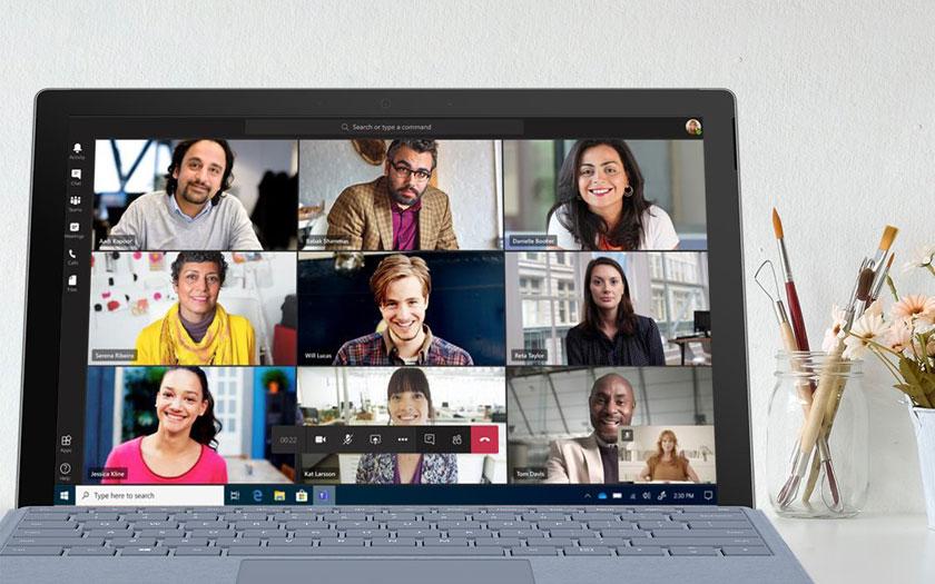 Microsoft Teams, aynı anda 9 video konferans katılımcısını gösterebilecek