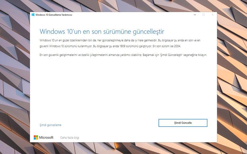 Windows 10 2004 Güncelleme Yardımcısı
