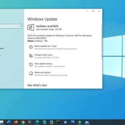 Windows 10 1909 Kasım Güncellemesi için KB4549951 Yayınlandı