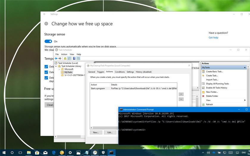 Windows 10'da X günden eski dosyaları otomatik olarak silebilirsiniz